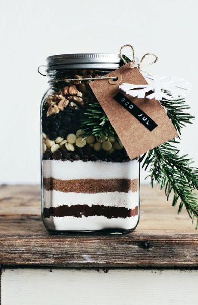 Source: Brownies in a Jar Gift