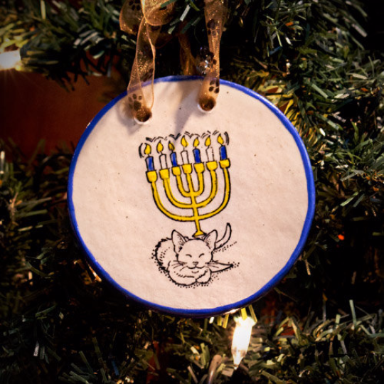 Hanukkah   Yes. We have blue and yellow themed ornaments with star and dreidel shapes.