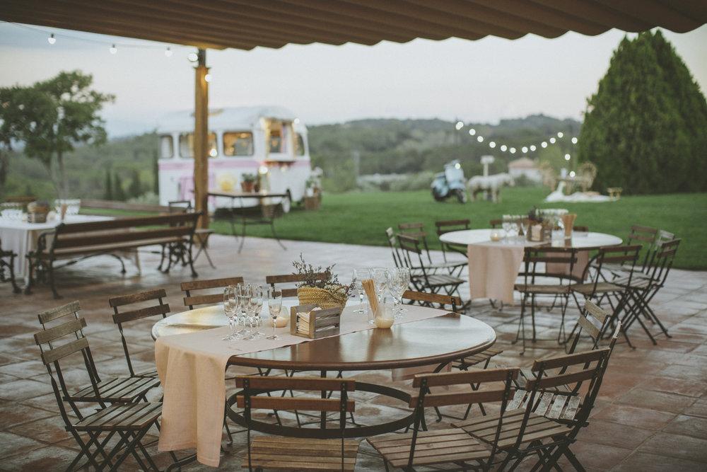 Espacio de banquete en Can Ribas