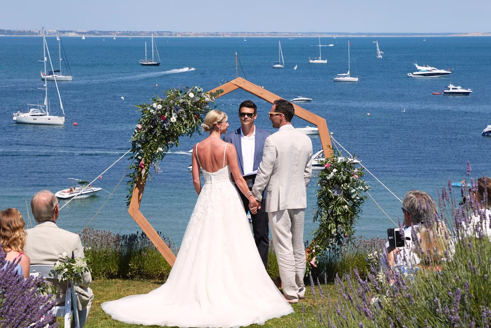 Seb & Lucy Wedding at Harry Warren House, Studland Bay