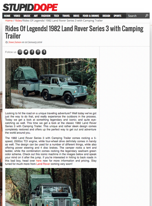 Stupid Dope Land Rover Series Iii Trailer Cool Vintage