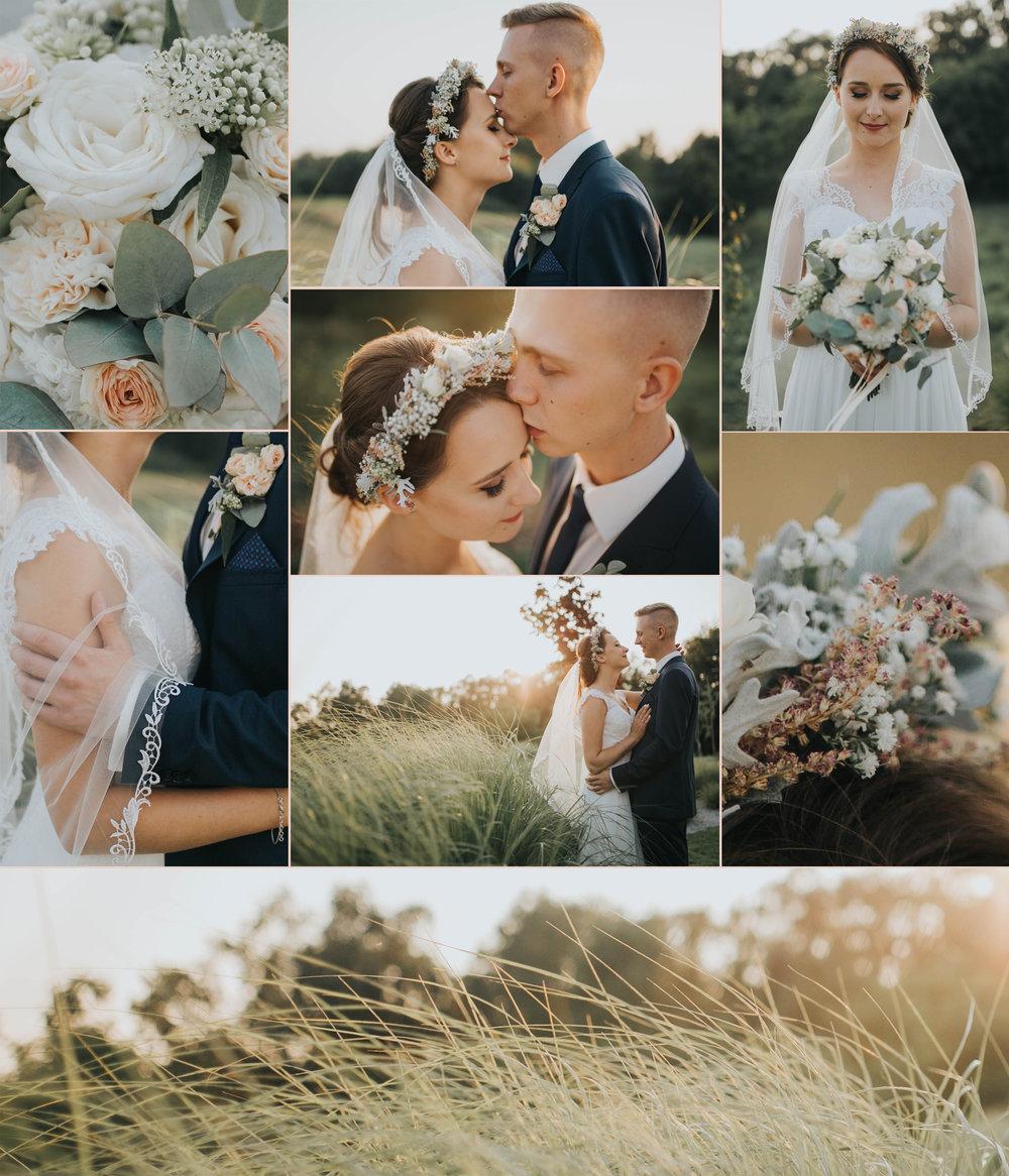 mini plener podczas wesela Angeliki i Błażeja