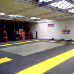Nieuwe vloer in de gym.