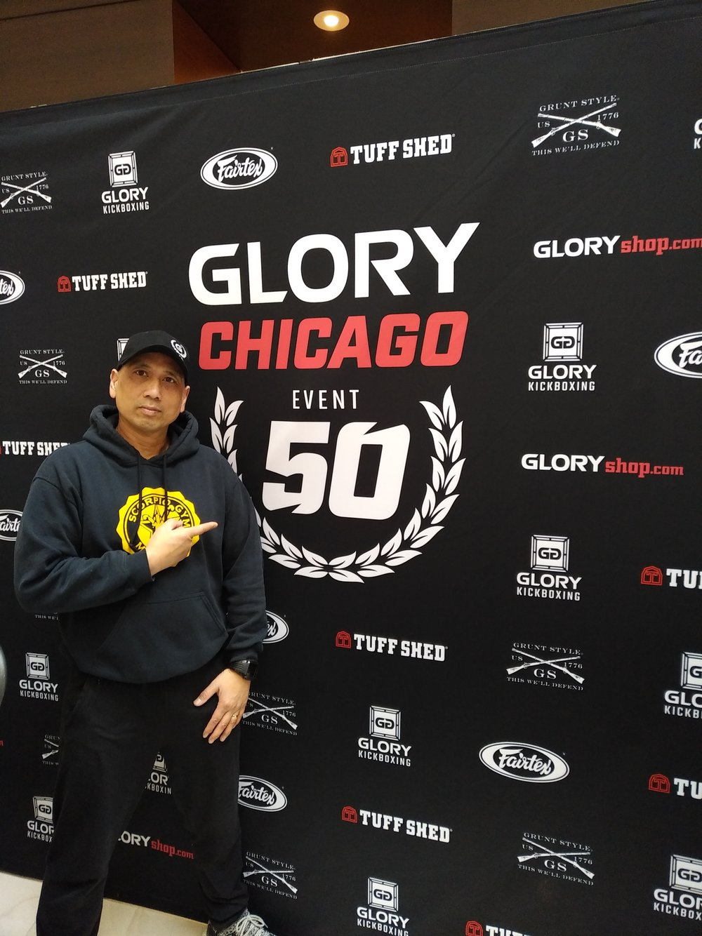 Jullie instructeur als Headcoach op GLORY 50 in Chicago 2018