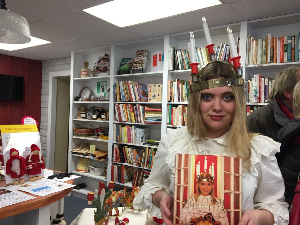 Lucia, the bearer of light, visited Creative Corner.