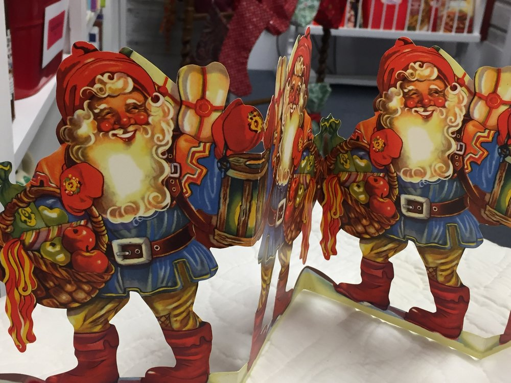 Traditional Swedish Christmas decorations on display at our Swedish Christmas book signing event.