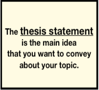 Help with a thesis sentence?