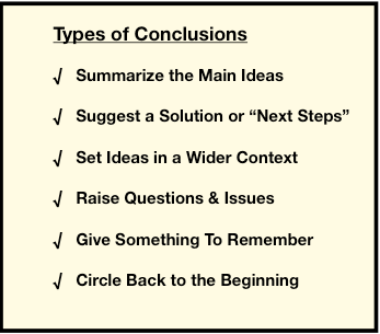 strategies for concluding your essay