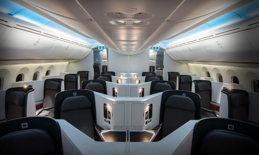 Avianca Boeing 787 business class cabin