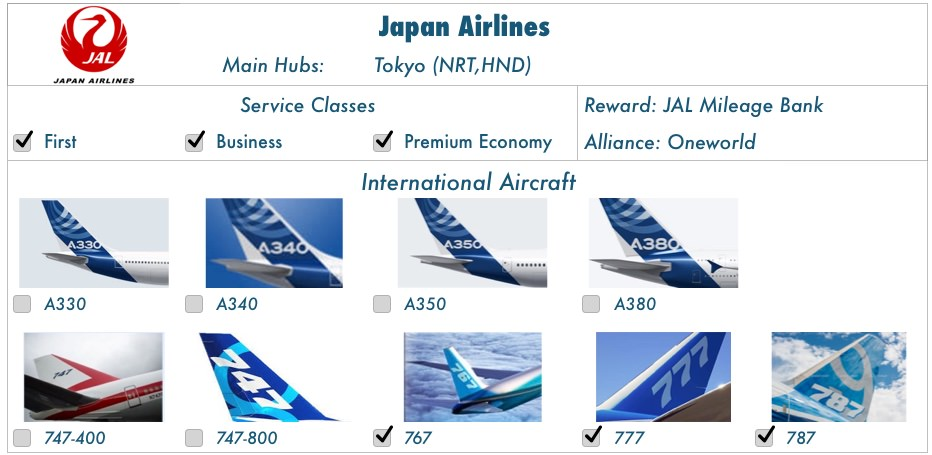ratings courtesy Skytrax and JACDEC