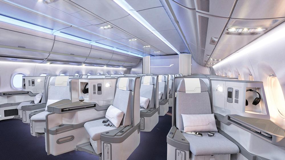 Finnair A350 XWB Business Class Cabin 01 cruise LR.jpg
