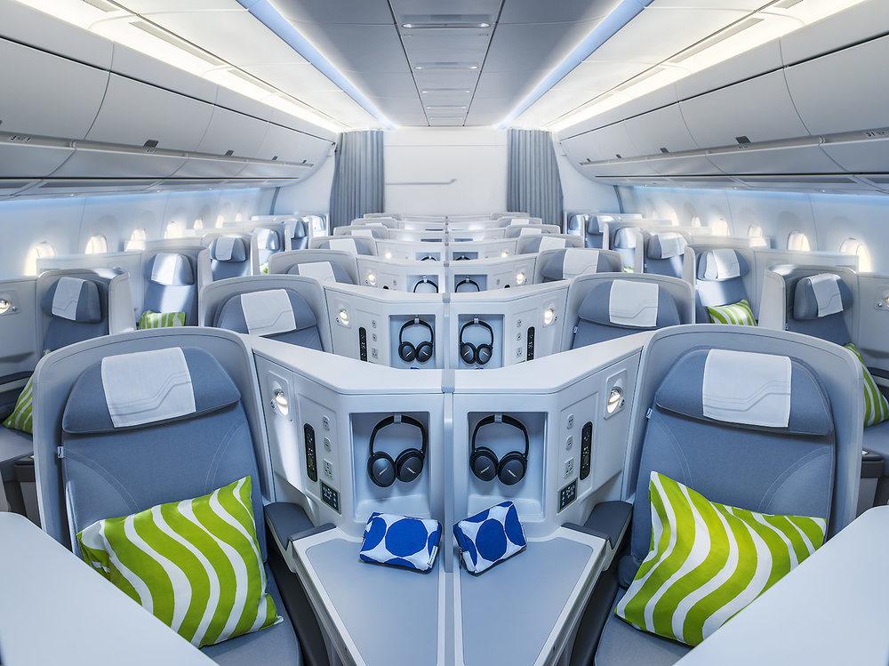 Finnair A350 business class cabin, general view cruise.jpg