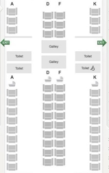 B777-300ER seat map (3 row mini-cabin)