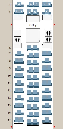 Swiss 777-300ER business class seat map