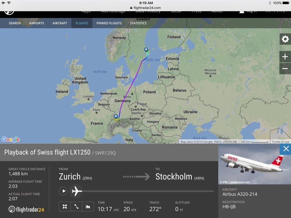 Swiss A320 Business Class - Regional ZRH-ARN — Reward Flying