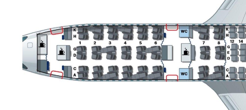 LH - A350 Seat Map