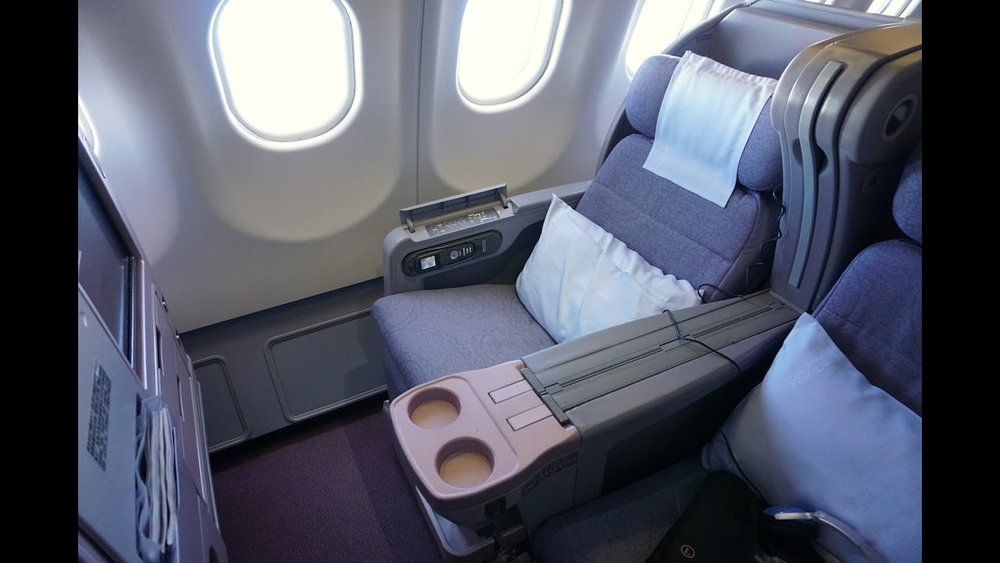 CI - China Airlines 5-row cabin