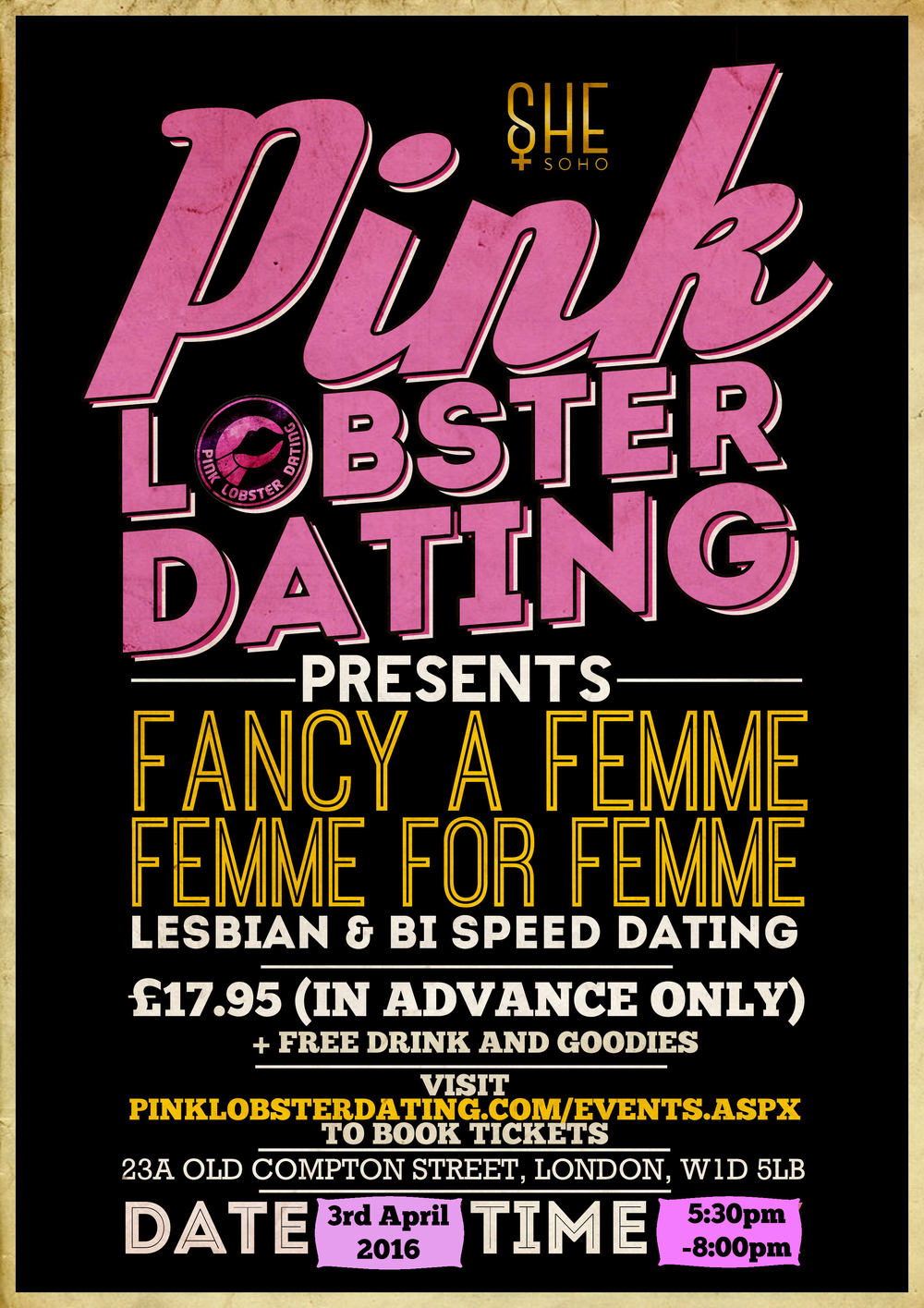 Fancy a Femme Lesbian Speed Dating at SHE Soho, London