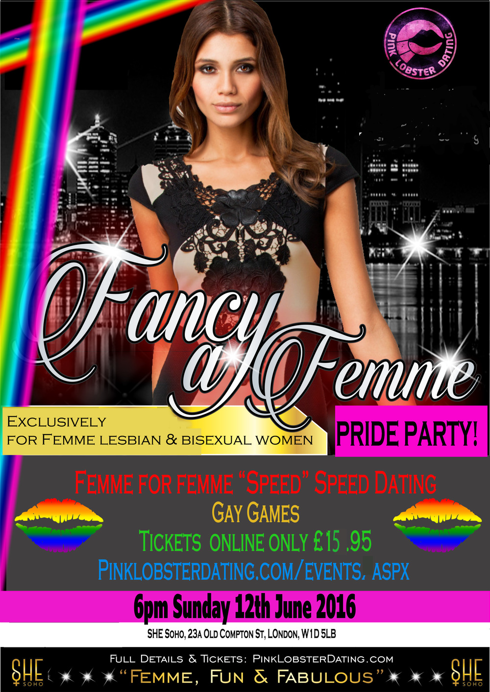 Femme Lesbian & Bi Pride Party June 12th 2016
