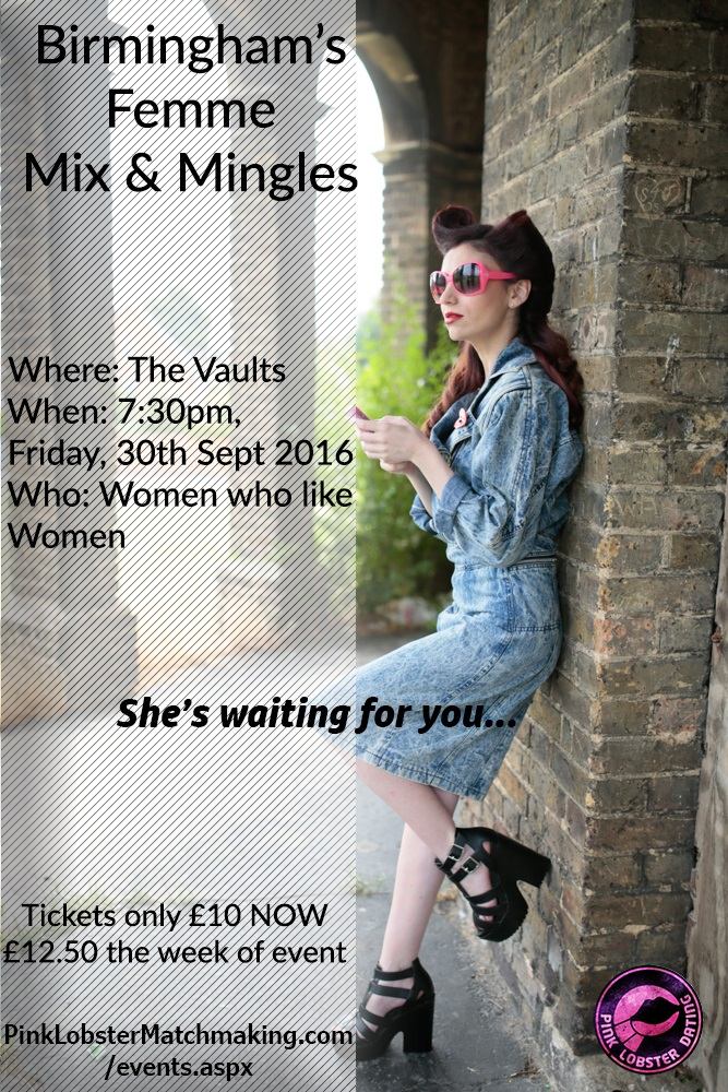 birmingham, femme, mix and mingles, lesbian, west midlands, The Vaults,