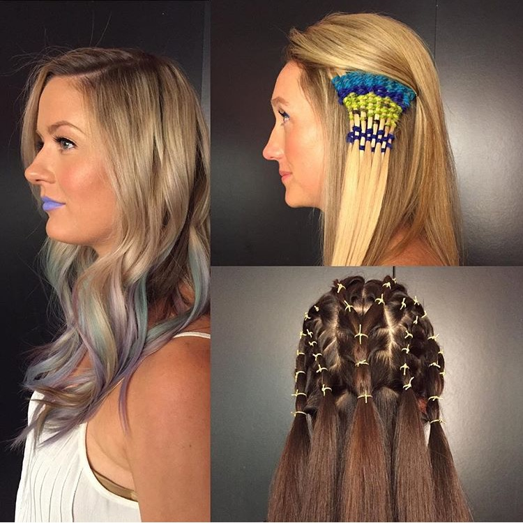 Mermaid, macrame and elastics - oh my!  Photo credit - Shelby T. of Showpony Hair