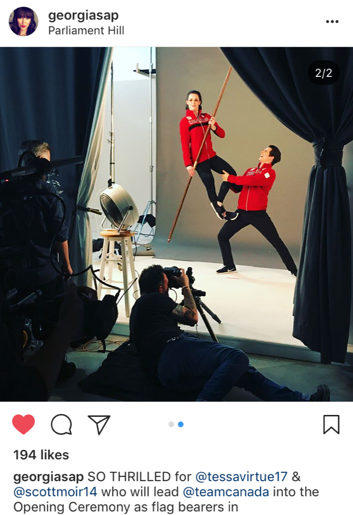 A little #BTS shot from Georgia from @TeamCanada!