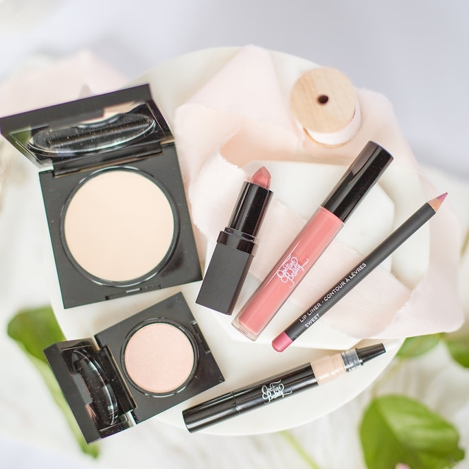 Luxe Bridal Makeup Touchup Kit:  starting at $120.00;  includes Lipstick, Lipgloss, Lip Pencil, Matte Perfection Touchup Veil, Translucent Pressed Powder and Spotlight Shimmer Powder