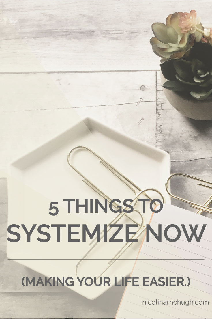 If you've seen me talk about systems before, then you know that I think systems are sexy. And systems are sexy because of what they allow us to do in our businesses and lives that makes running businesses and lives and full-time jobs and kids and marriages possible. So without fluffing it up, let's get into the five places you need a system in right now.