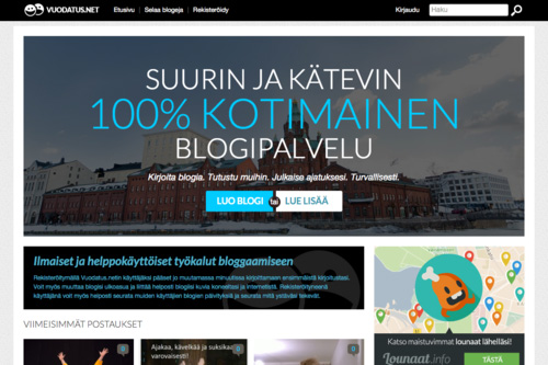 Vuodatus.net A large blogging service in Finland reaching over 200 000 unique weekly visitors. Vuodatus was founded in 2004 and acquired from Iltalehti by ROHEA in 2012.