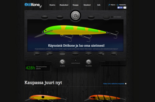 Ottikone.fi An online store for customized and unique fishing lures. We took the challenge because of the need for advanced customization engine behind the service. And we did the online shop in the need. The engine is still quite nice, even if we say so ourselves, and it was launched already in 2012.
