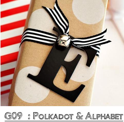 Polkadot Alphabet Wrap