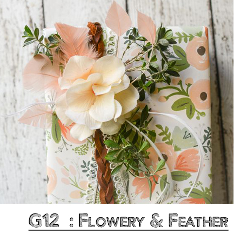 Flowery Feather Wrap