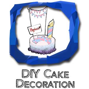 DIY-cake decoration