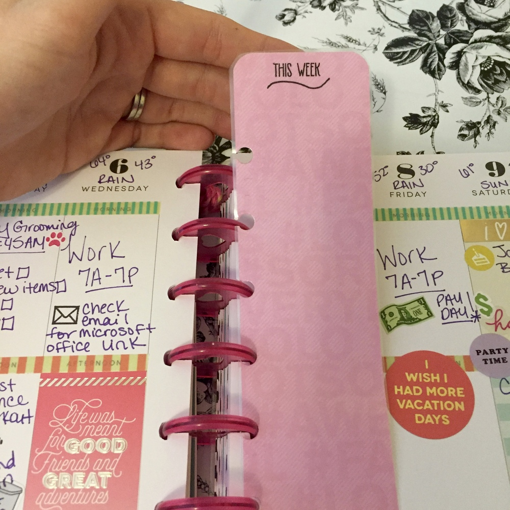 Your final product should pop in and out of your planner, easily!