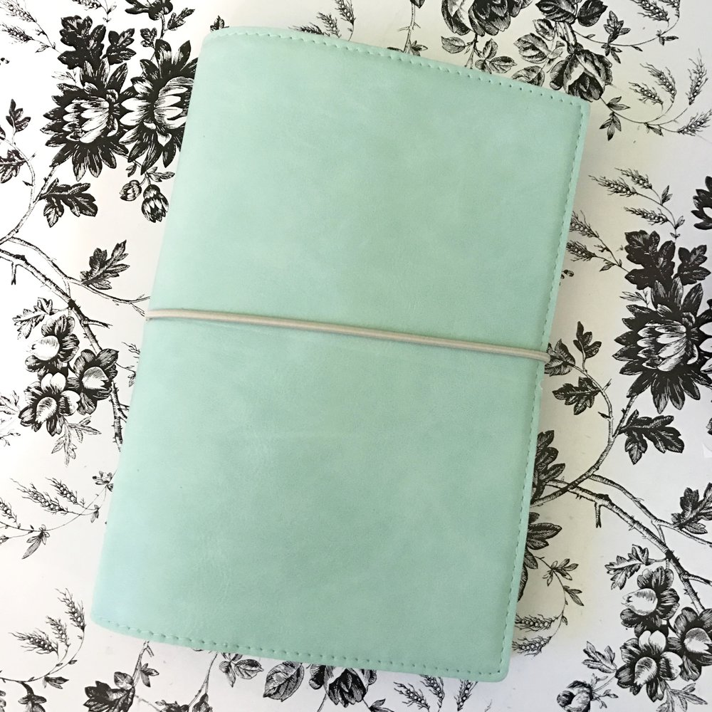 Filofax Domino Soft in Duck Egg
