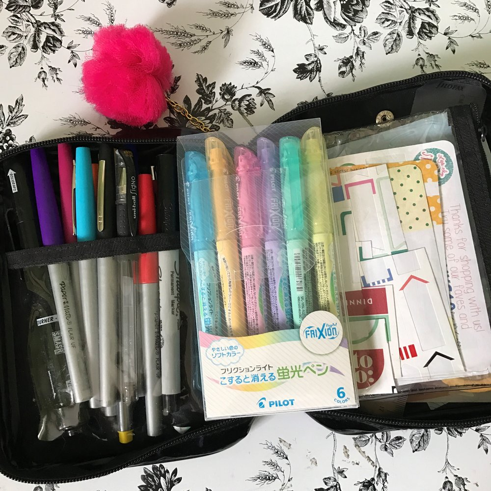 Pens, highlighters, and washi, oh my!