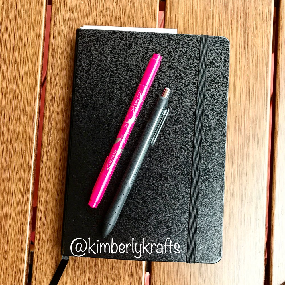 My bullet journal and tools of choice.