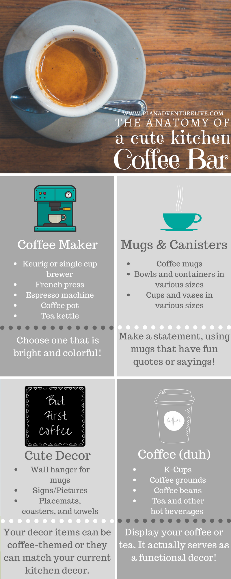The Anatomy of a Cute Kitchen Coffee Bar — Plan. Adventure. Live.