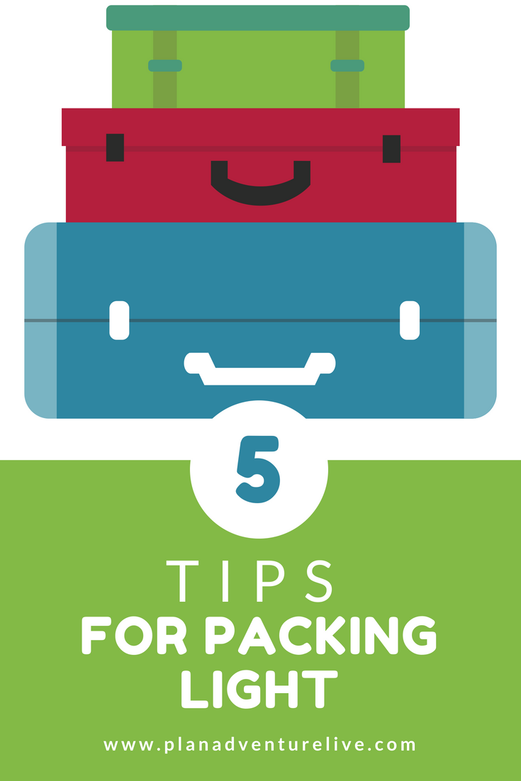 5 Tips for Packing Light