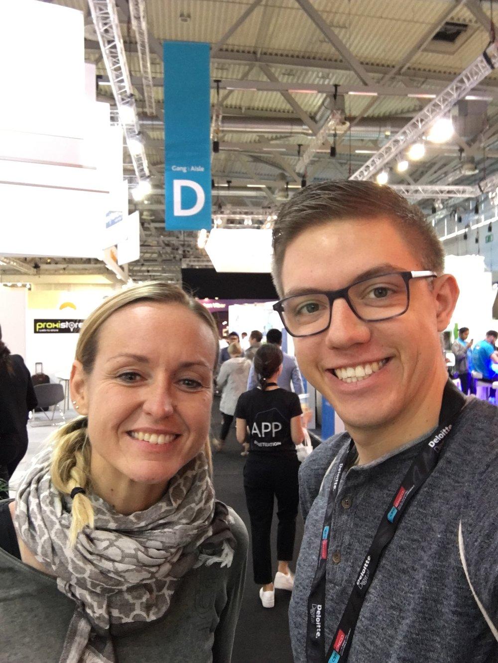 Claudia Baacke und Kenneth Reiß auf der dmexco 2017