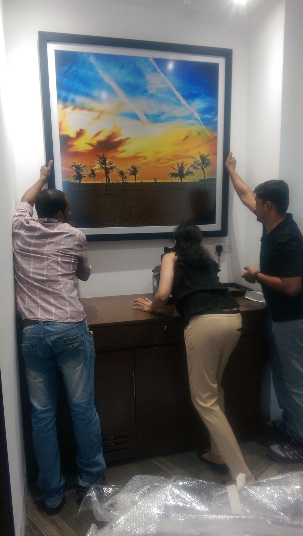 Installation of Pixelesque Photography in a private office
