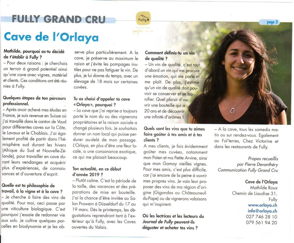 Journal de Fully Février 2019