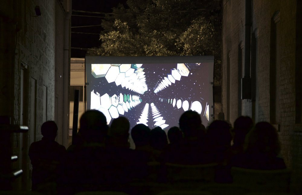 View of audience at Night 2's screening; pictured: Adrián Regnier Chávez,  L.  ,    2016
