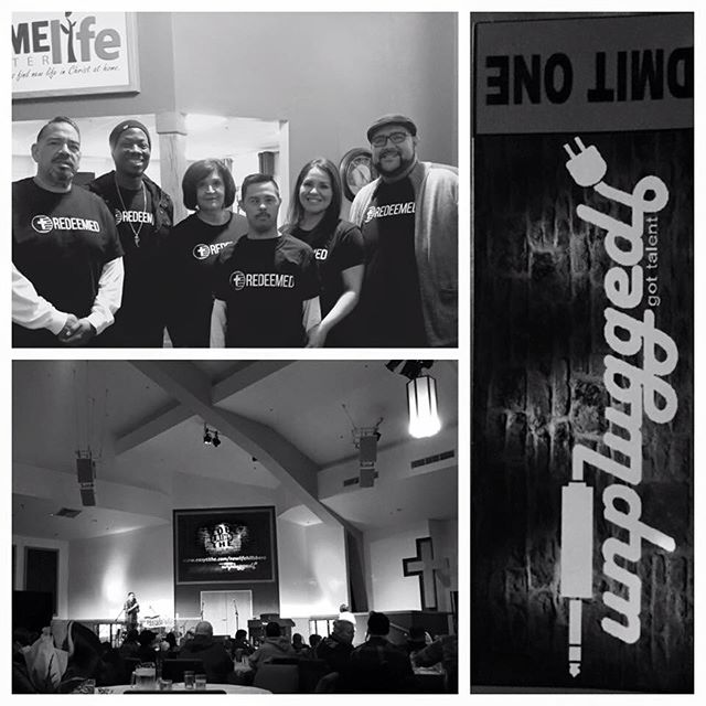 Redeemed in the building! Rocking with our friends at New Life Baptist of Hillsboro for the Unplugged Scholarship Fundraiser.