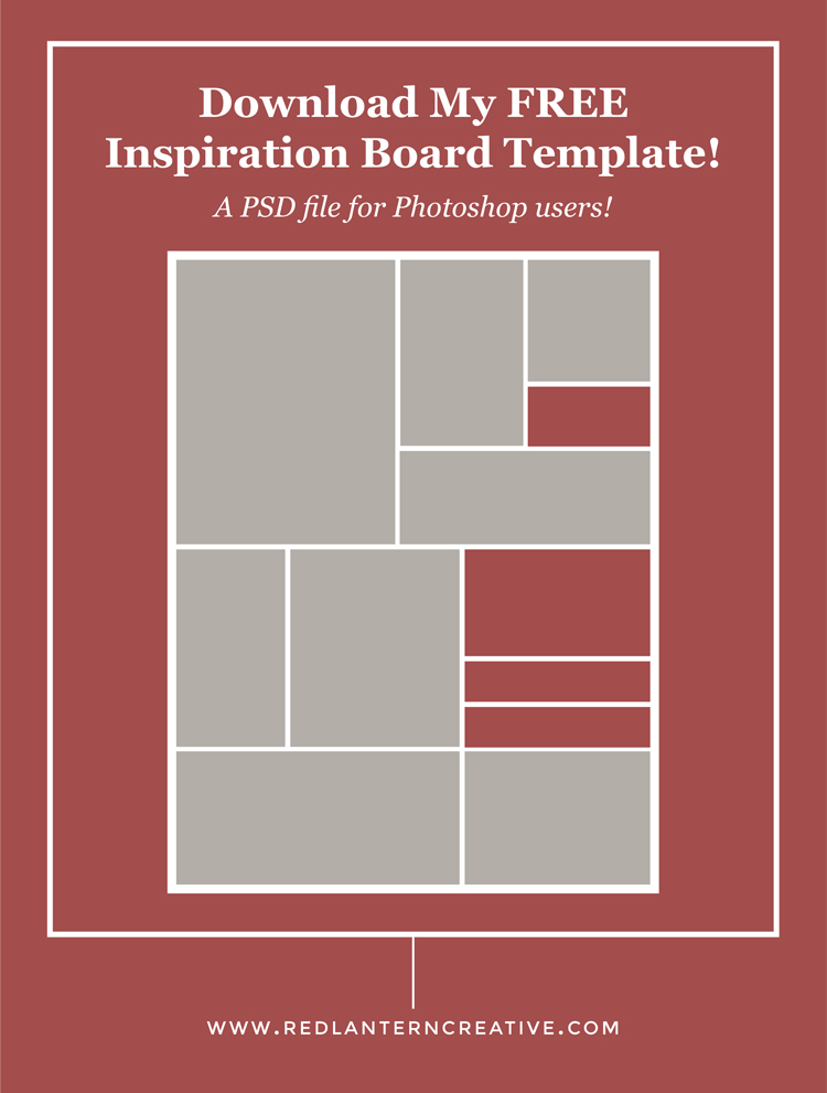 Free inspiration board template