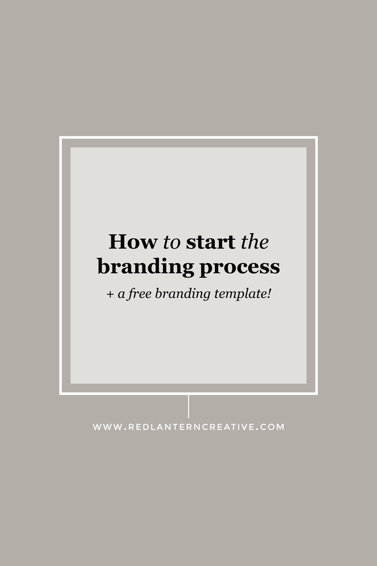 How to start the branding process