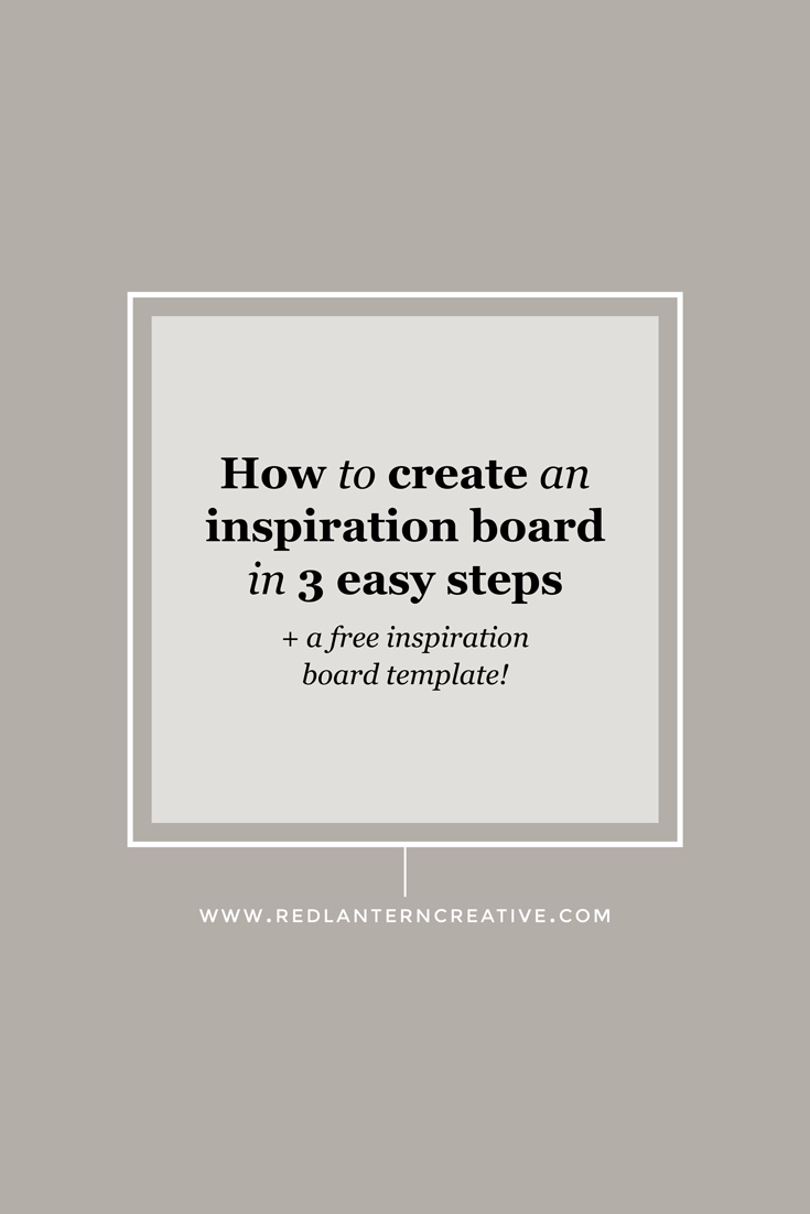 How to create an inspiration board in 3 easy steps