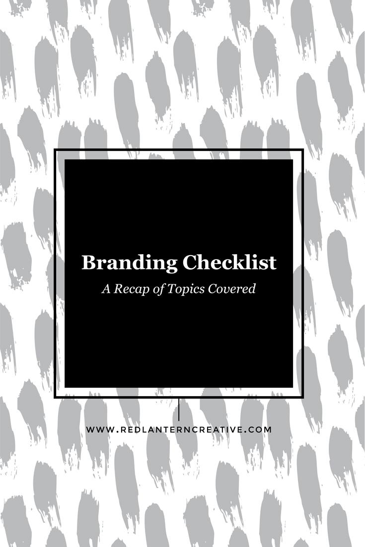 Branding Series: A recap of topics covered