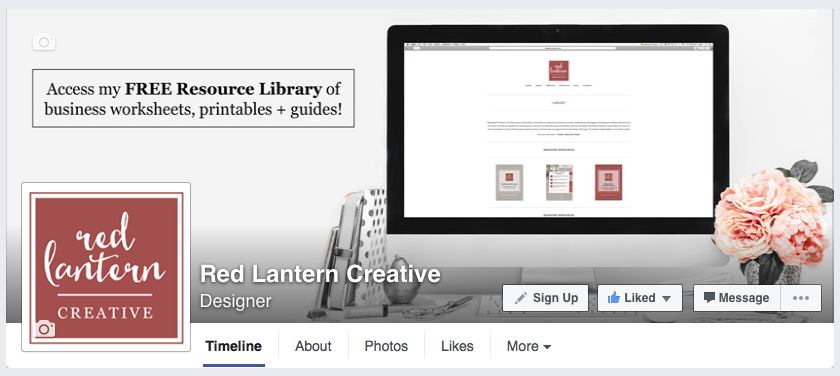 Red Lantern Creative Facebook Header