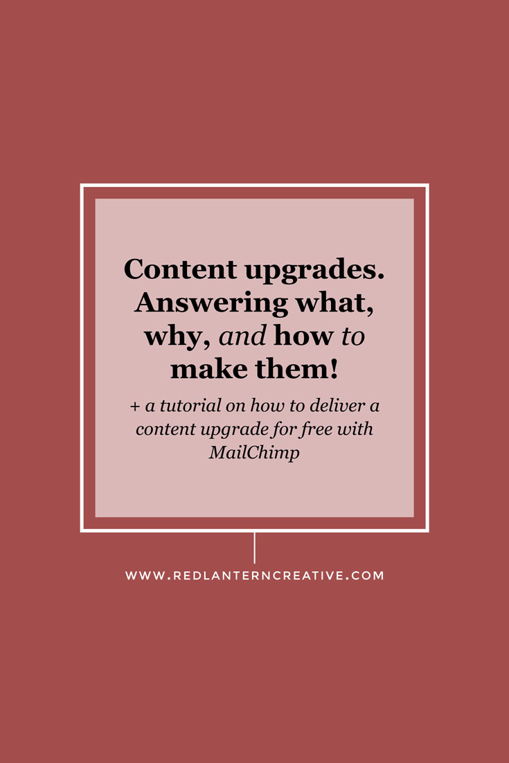 Content Upgrades. Answering what, why, and how to make them!